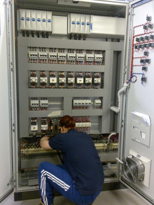 Control panel for textile plant from AVCS electrical engineering services in Cheshire