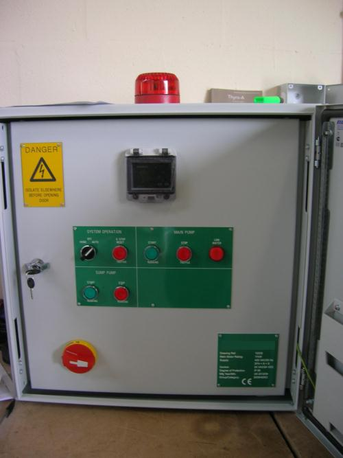Wheel wash control panel helps save energy for Cheshire plant room